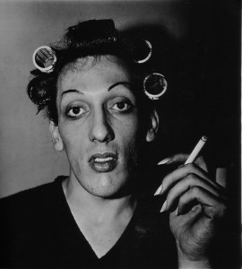 Diane Arbus A young man in curlers at home NYC1966